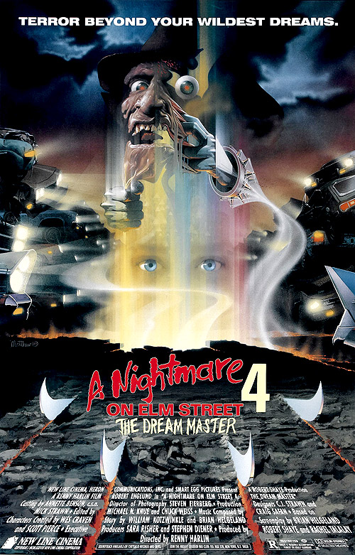 a nightmare on elm street horror movie series Nightmare_on_elm_street_4_poster_01