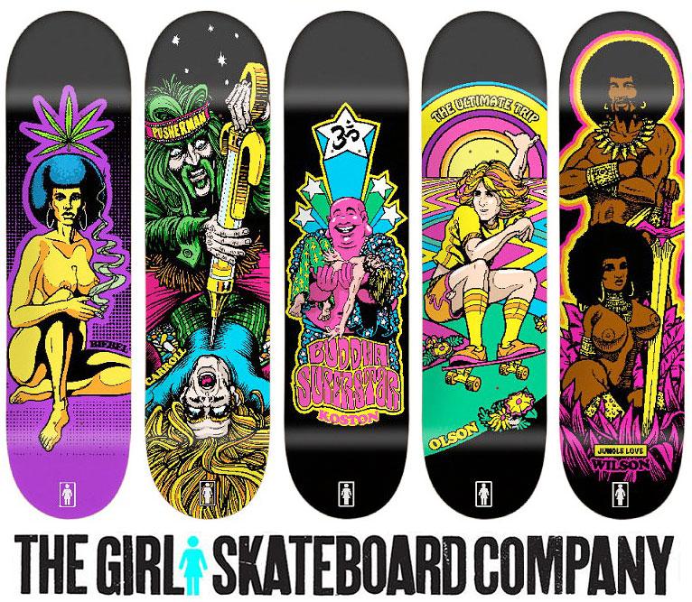 Girl skateboards blacklight series by sean cliver webringjustice brand voltagebd Image collections