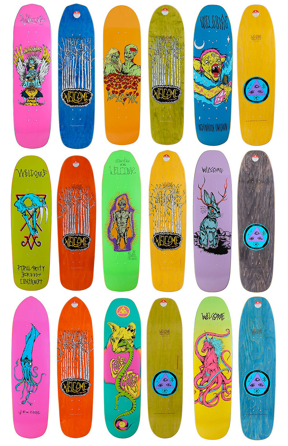 Welcome Skateboards | classicskateshop |Welcome Skateboards Bird Graphics